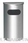 Stainless Steel Semi Round Bin c/w Flat Top SRB-039/F Stainless Steel Bin Hotel Supply