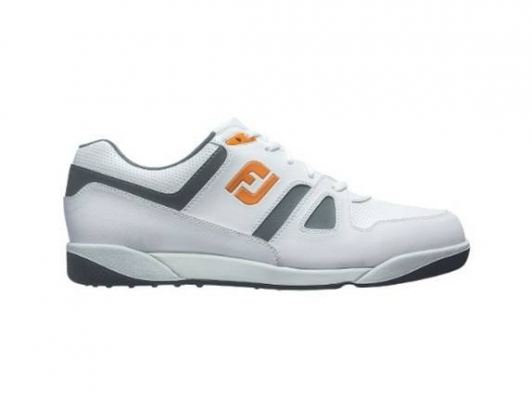 FJ Spikeless Golf Shoes White/Charcoal/Orange Model 45123 Available from size 6.5 till 11 US