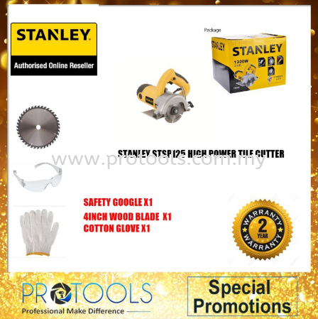 STANLEY STSP125 HIGH POWER TILE CUTTER FOC 3 THING! - 2 YEAR WARRANTY