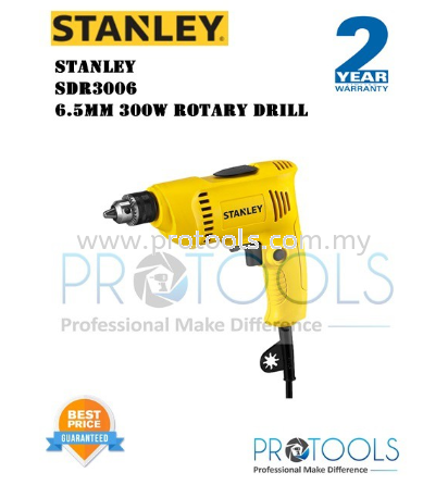 STANLEY SDR3006 6.5MM 300W ROTARY DRILL - 2 years warranty