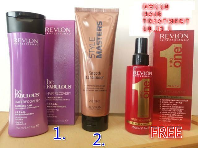REVLON KERATIN SHAMPOO+STYLE MASTER CONDITIONER FOC (REVLON UNIQONE 10 IN 1 TREATMENT)