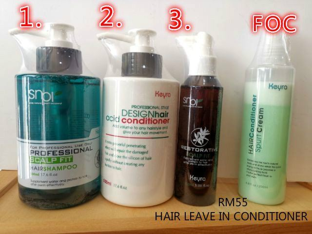 KEYRA SCALP FIT SHAMPOO+KEYRA ACID CONDITIONER+KEYRA RESTORATIVE SCALP FIT (FOC) KEYRA HAIR LEAVE IN