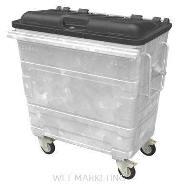 Hot Dipped Galvanised Mobile Garbage Bin 660L