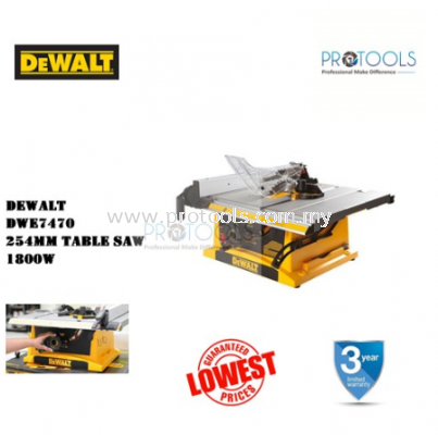 "DEWALT DWE7470-B1 1800W 10"" 254mm Table Saw"