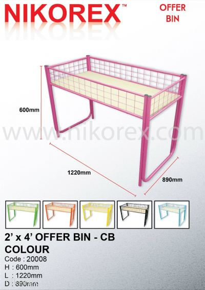 20008-OFFER BIN 2'X4' WITH CHIPBOARD-COLOR
