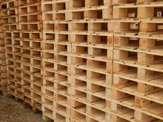 Custom made wooden pallet