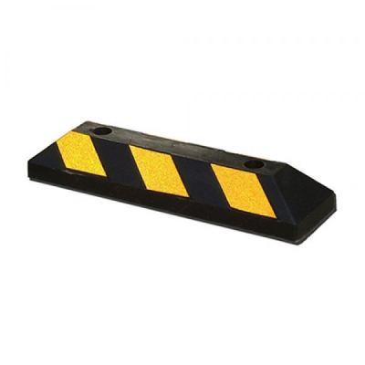 Rubber Wheel Stopper Car with Yellow Bead Reflective Stripes 550MM (L) x 150MM (W) x 100MM (H)
