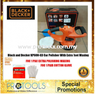 Black and Decker KP600-XD Car Polisher With Extra 1set Wax and polish +1 PAIR COTTON GLOVE