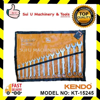 Kendo (KTS-15245) 14pcs 8-24mm CRV Combination Spanner Set