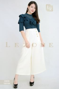 193106 BUTTON DETAIL MAXI CULOTTES