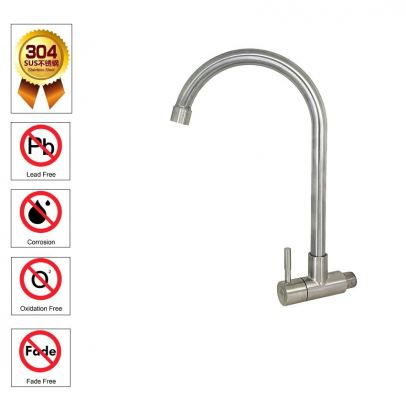 SL SUS304 -1113-811  S/STEEL  WALL SINK TAP-00917C