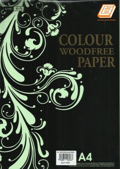 kami - A4 Green Colour Woodfree Paper - (SKOT-7037F)