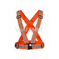 Fabric Safety Vest Orange / Yellow