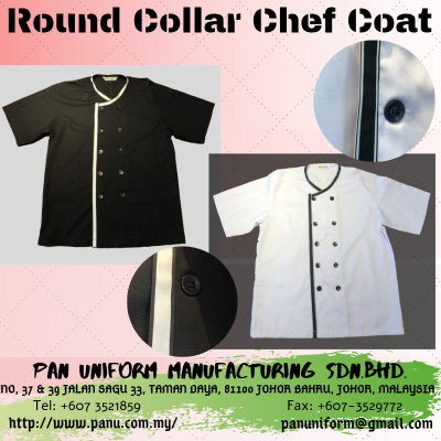 Round collar chef coat