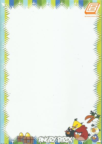 SBC - A4 Angry Bird Fancy Card - (1)