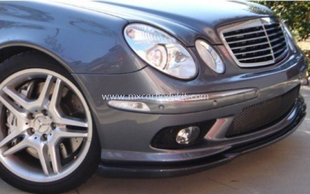 MERCEDES BENZ W211 2002 AM E55 LOOK FRONT LIP CARBON