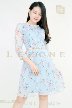 635339 FLORAL SLEEVE DRESS