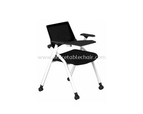 TRENDS FOLDING MESH BACK CHAIR C/W TABLET