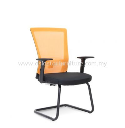 DANVER VISITOR MESH BACK CHAIR C/W EPOXY BLACK CANTILEVER BASE