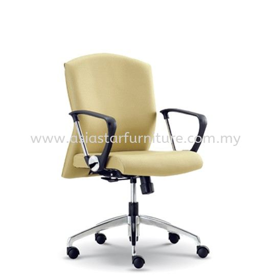 FOCUS EXECUTIVE LOW BACK CHAIR C/W ALUMINIUM ROCKET DIE-CAST BASE