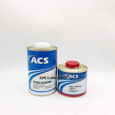 ACS P190-AC8288 UNIVERSAL CLEARCOAT with P210-AHS8150 HARDENER SET- 1LTR