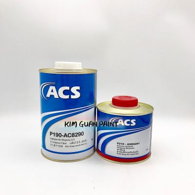 ACS P190-AC8290 2 TO 1 EXPRESS CLEAR WITH P210-AHE8291 HARDENER SET- 1LTR