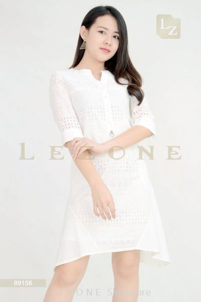 89156 Lace Sleeve Dress