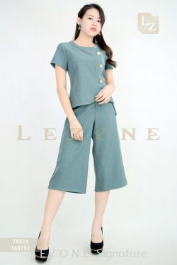 78514 + 768751 BUTTON DETAIL BLOUSE WITH CULOTTES