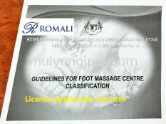 License Application and Consultation for Foot Massage and Reflexology