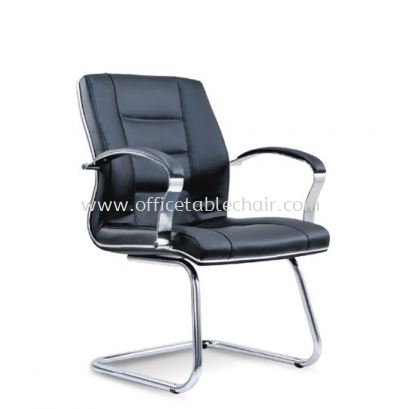 CITRUS DIRECTOR VISITOR LEATHER CHAIR WITH CHROME TRIMMING LINE