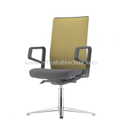 SURFACE VISITOR SOFTEC BACK CHAIR C/W 4 PRONGED ALUMINIUM BASE ASF 8414F