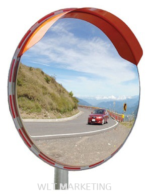 Stainless Steel Outdoor Convex Mirror (Pole Mounted)