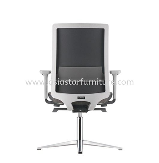 SURFACE VISITOR PU BACK CHAIR C/W 4 PRONGED ALUMINIUM BASE ASF 8414P