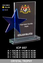 ICP 057 CRYSTAL PLAQUE