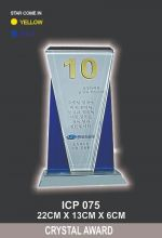 ICP 075 CRYSTAL TROPHY