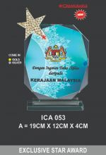 ICA 053 CRYSTAL PLAQUE
