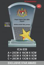 ICA 039 CRYSTAL PLAQUE