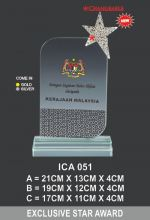 ICA 051 CRYSTAL PLAQUE