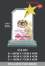ICA 041 CRYSTAL PLAQUE