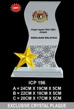 ICP 196 CRYSTAL PLAQUE