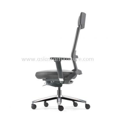 ROYSES HIGH BACK PU CHAIR C/W ROCKET ALUMINIUM BASE ARC 8520P