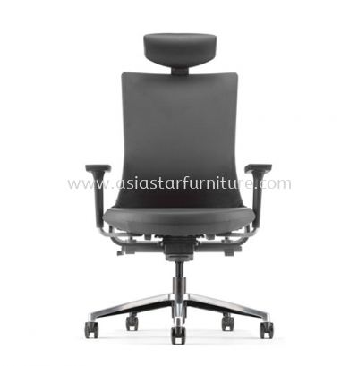 ROYSES HIGH BACK PU CHAIR C/W ROCKET ALUMINIUM BASE ARC 8510P