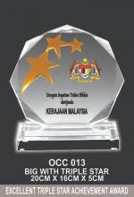 OCC 013 CRYSTAL PLAQUE
