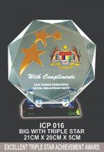 ICP 016 CRYSTAL PLAQUE