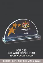 ICP 055 CRYSTAL PLAQUE