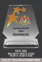 OCC 002 CRYSTAL PLAQUE