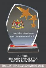 ICP 003 CRYSTAL PLAQUE