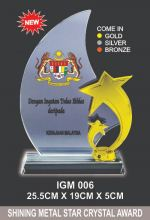 IGM 006 CRYSTAL PLAQUE