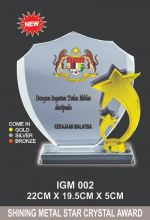 IGM 002 CRYSTAL PLAQUE