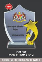 IGM 001 CRYSTAL PLAQUE